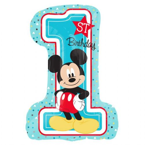 Mickey Mouse 1st Birthday SuperShape Balloon (each)
